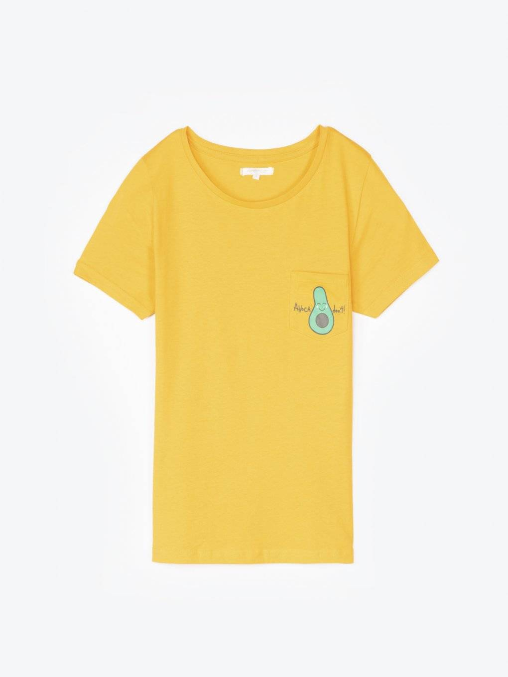 T-shirt with print on pocket