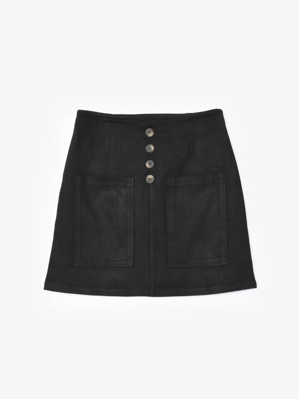 Spódnica mini w kształcie litery A z kieszeniami