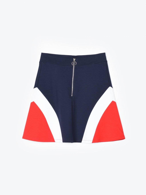 Colour block a-line mini skirt