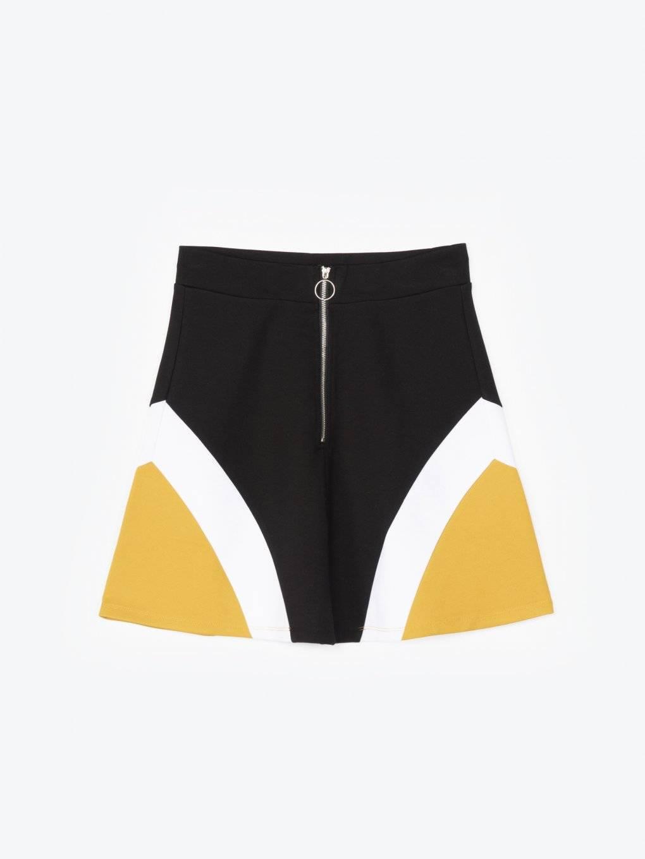 Kolorowa spódnica mini w kształcie litery A