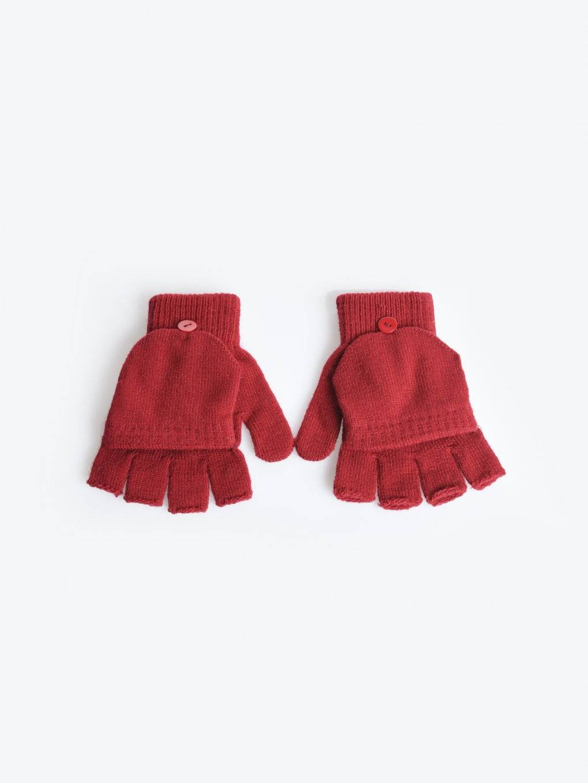 Basic knitted fingerless gloves
