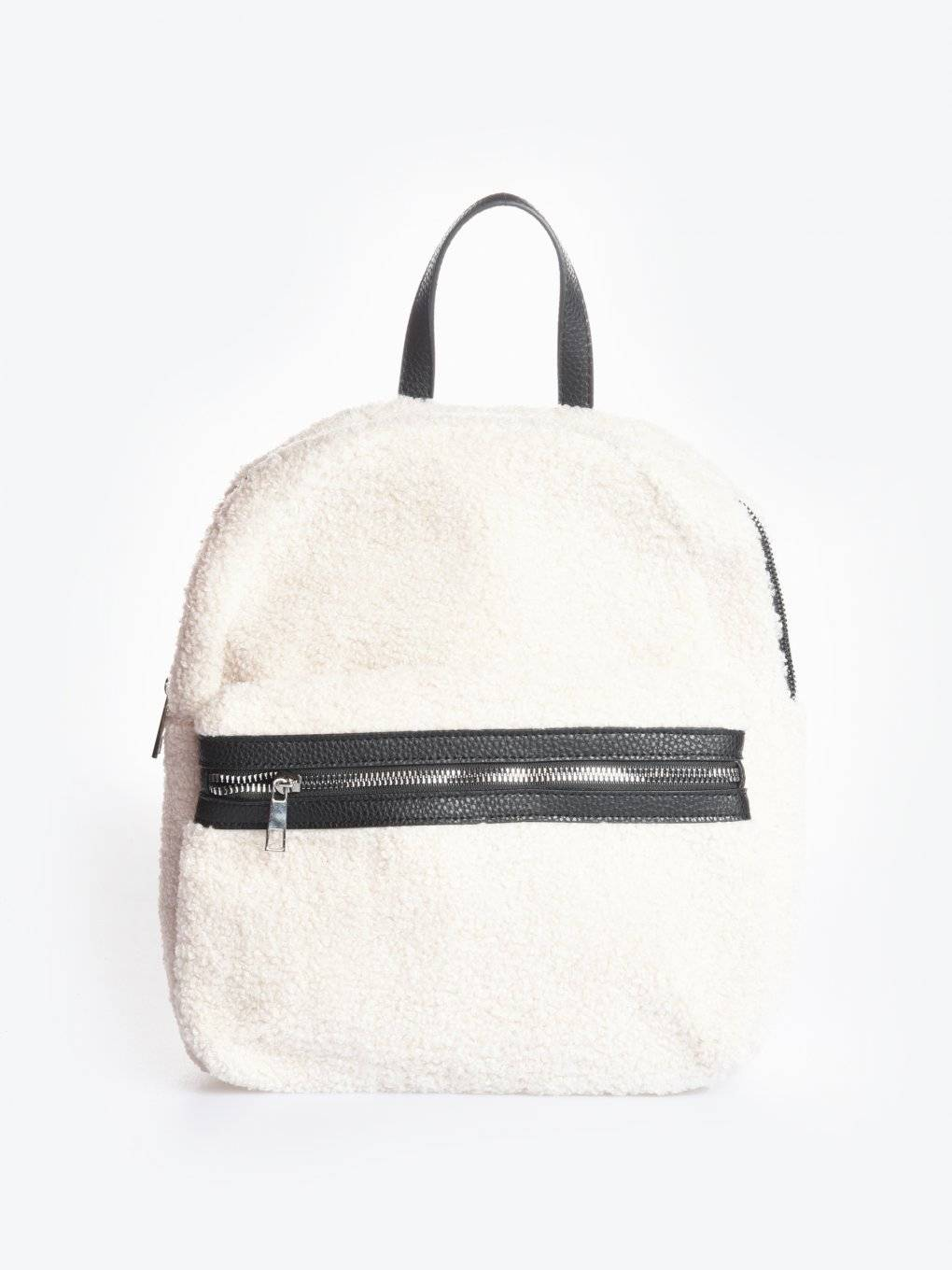 Teddy faux fur back pack