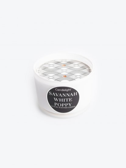 Savannah white poppy scented candle