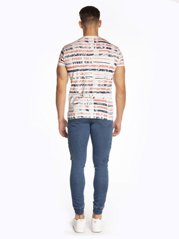 Printed slim fit t-shirt