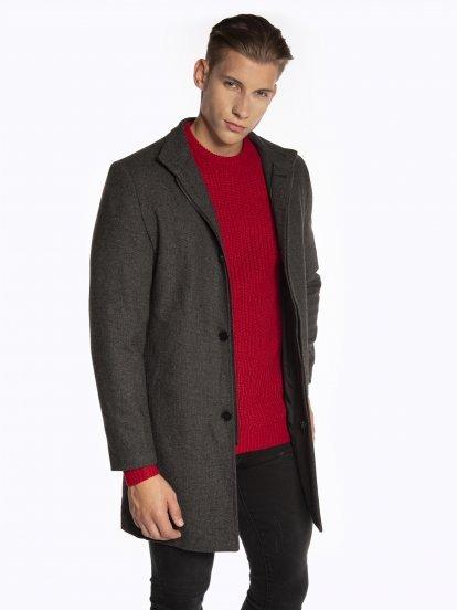 Płaszcz z mieszanki wełny