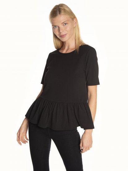 Basic peplum top