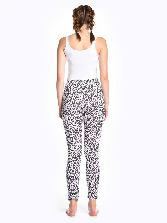 Animal print cotton leggings
