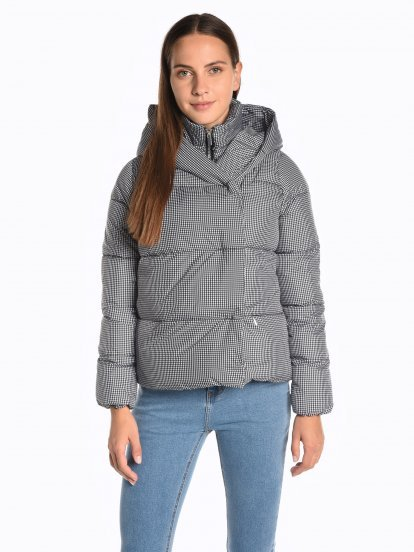Printed quilted padded jacket