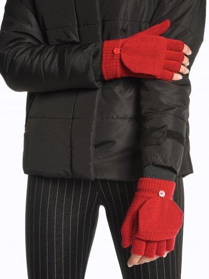 Jednoduché pletené rukavice bez prstů