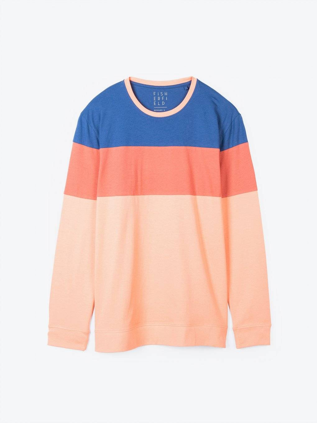 Color block long sleeve t-shirt
