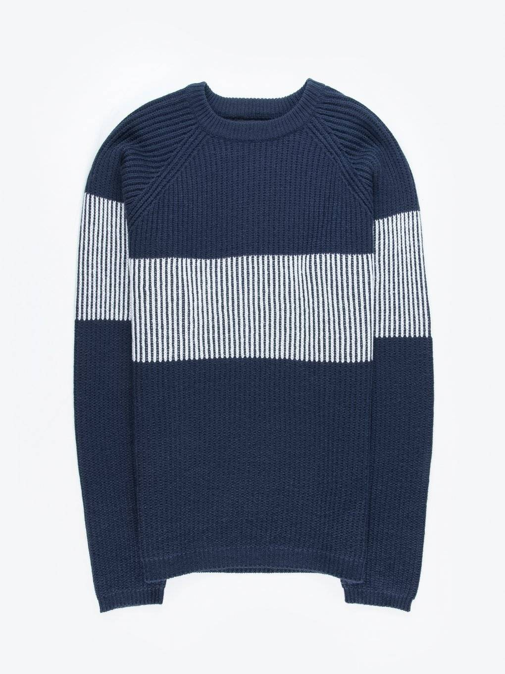 Color block structured sweater