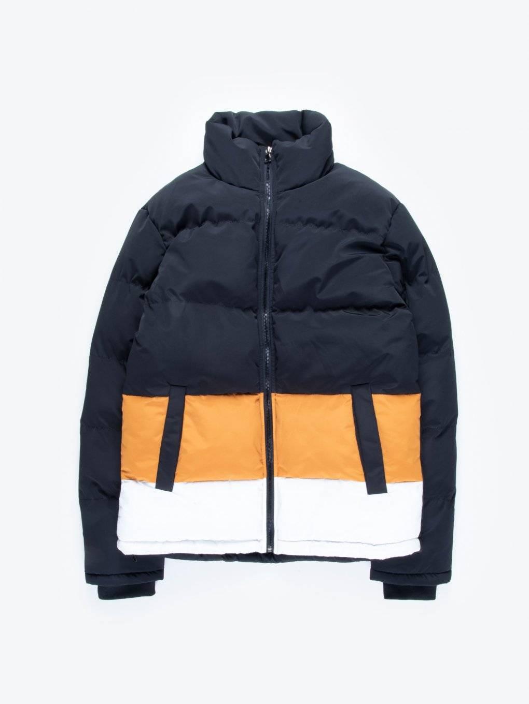 Color block puffer jacket