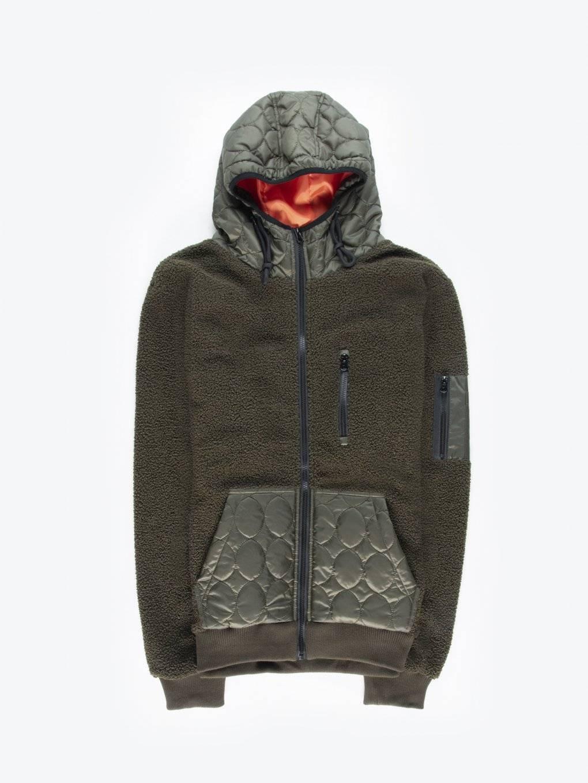 Heavy zip-up hoodie