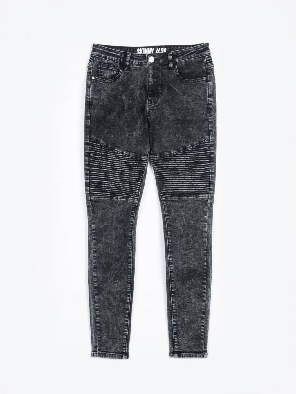 Biker skinny jeans