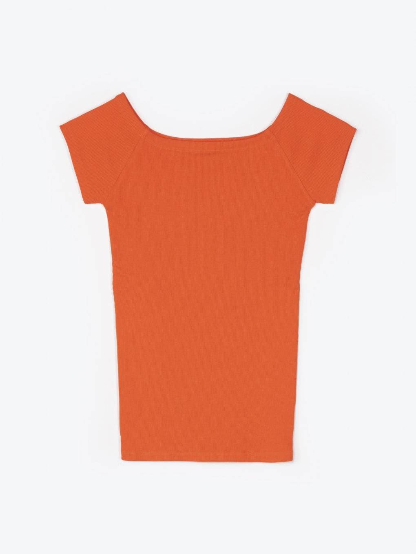 Rebrované tričko s krátkym rukávom