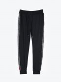 Soft sweatpants with side tape