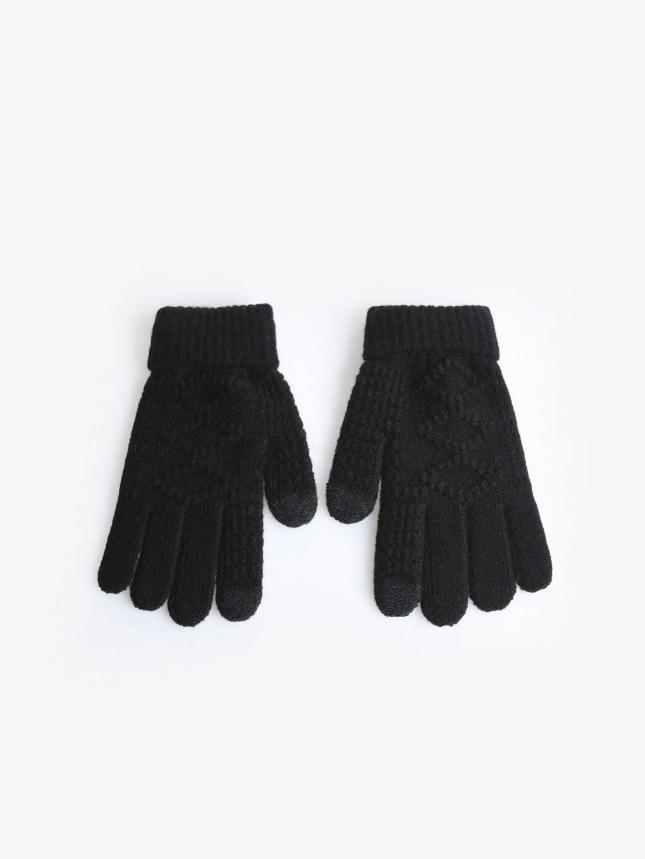 Jednoduché pletené rukavice