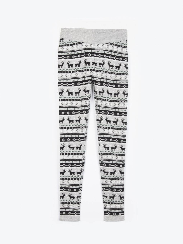 Vzorované pletené legíny