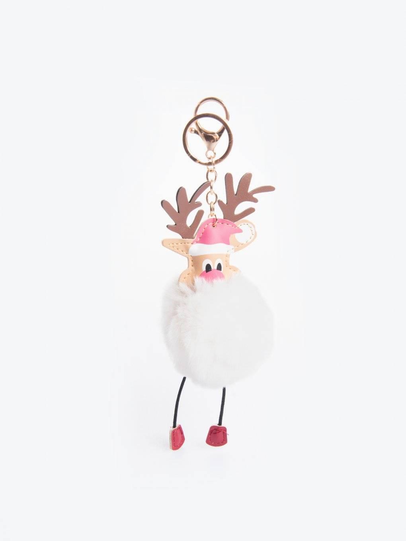 Přívěsek na klíče vánoční sob