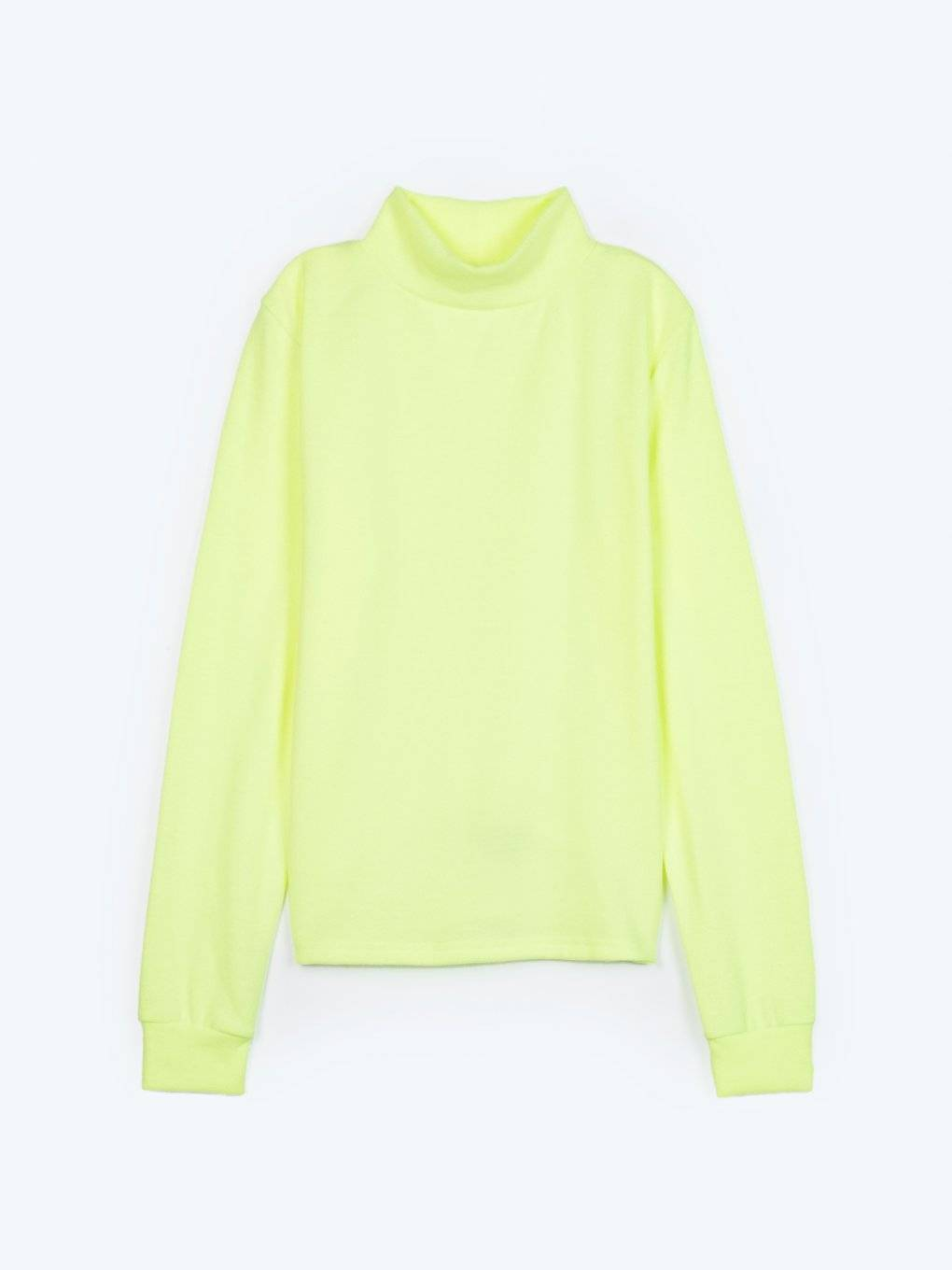 Basic neon turtleneck sweater