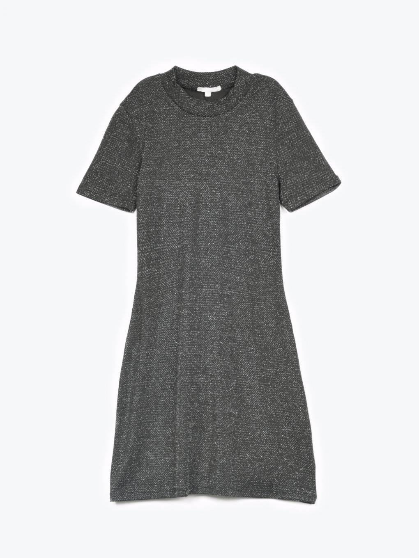 High neck  metallic mini dress