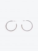 Hoop strass earrings