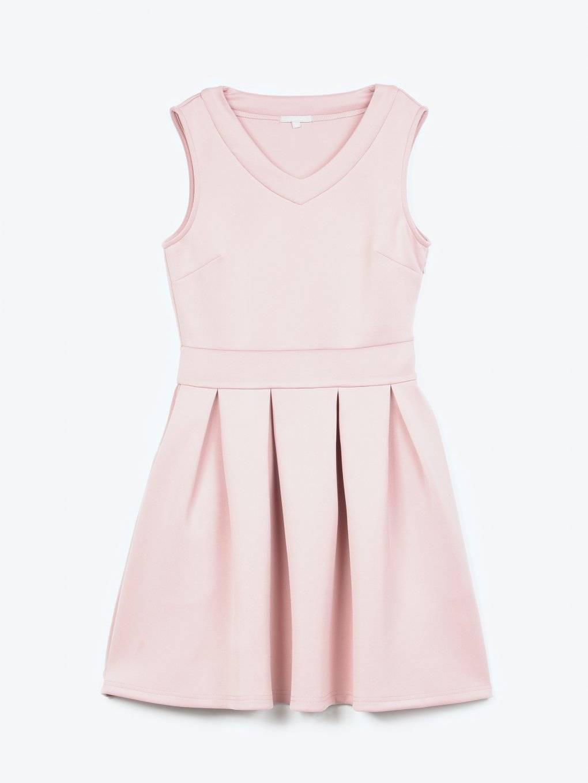 Sukienka skater z kieszeniami