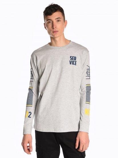Koszulka z długim rękawem i nadrukiem