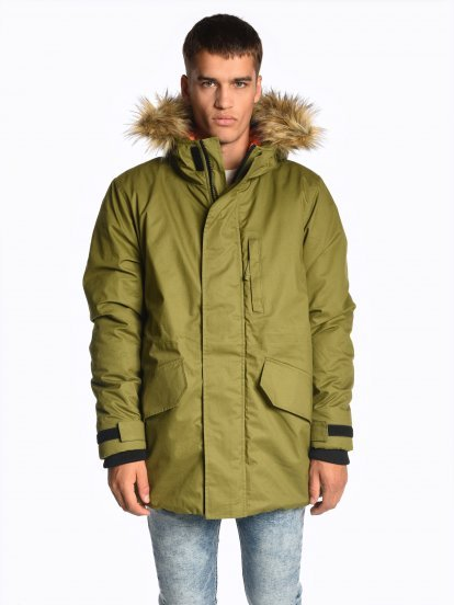 Padded parka with hood