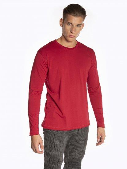 Jednoduché tričko s dlouhým rukávem