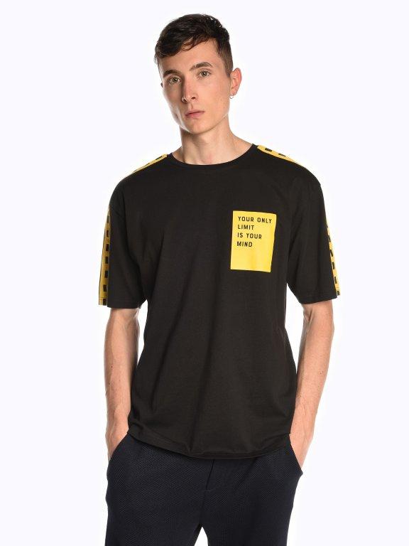 Koszulka z prążkiem na ramionach