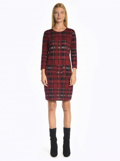 Comfy plaid dress