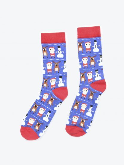 Ponožky s vánočním motivem
