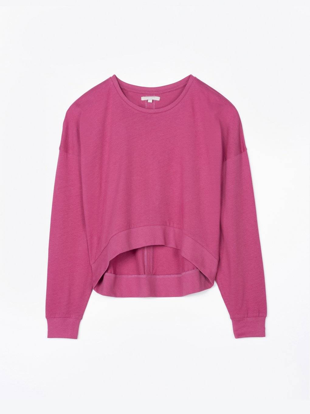 Cropped long sleeve top