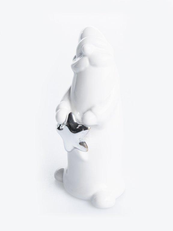 Ceramic Christmas figurine