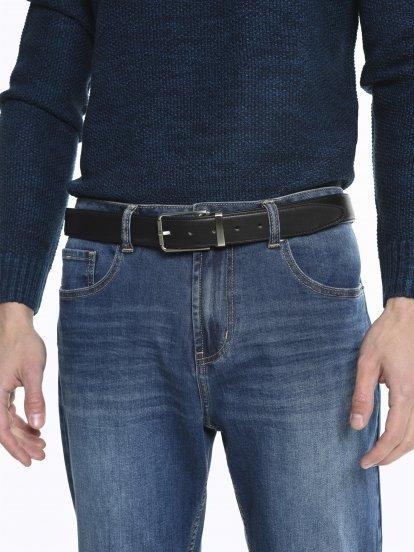 Oboustranný pásek s kovovou přezkou