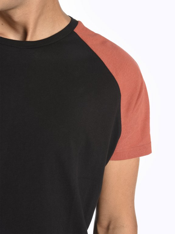 T-shirt with contrast sleeves