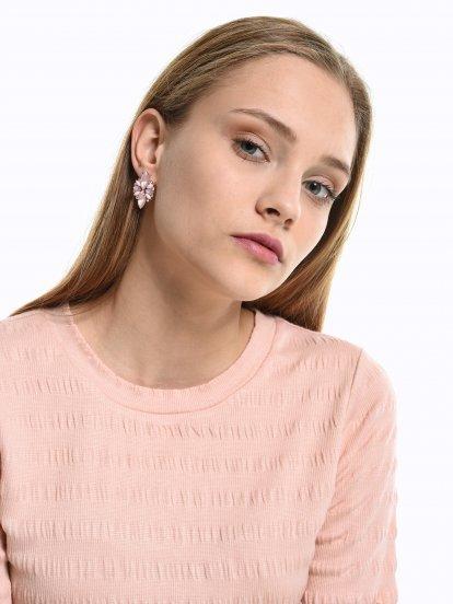 Faux stones earrings