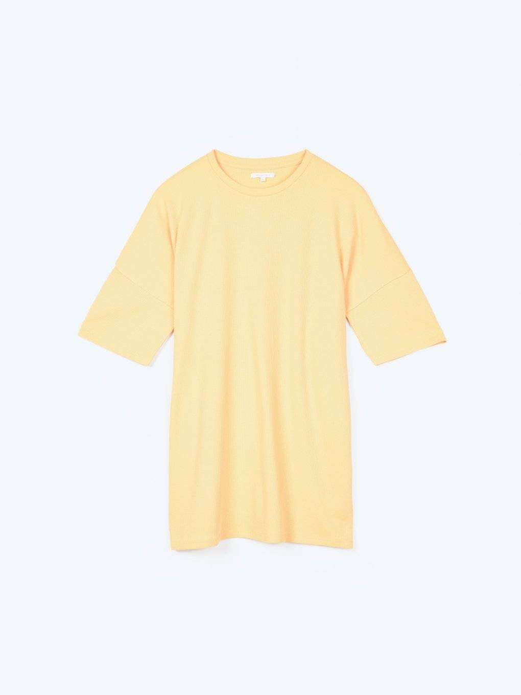 Oversized waffle-knit t-shirt