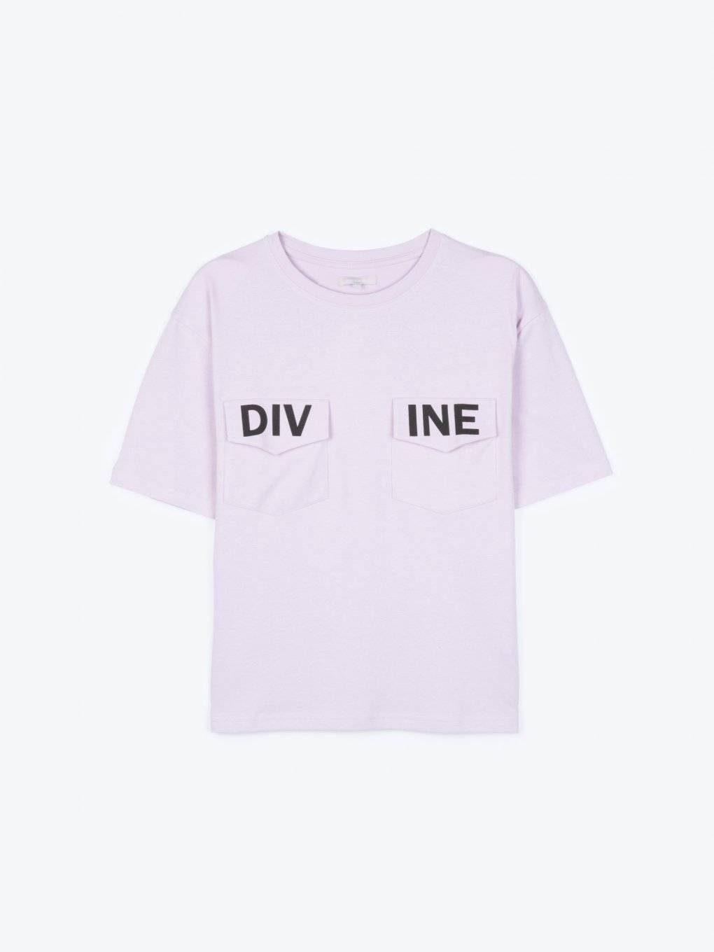 T-shirt with printed chest pockets