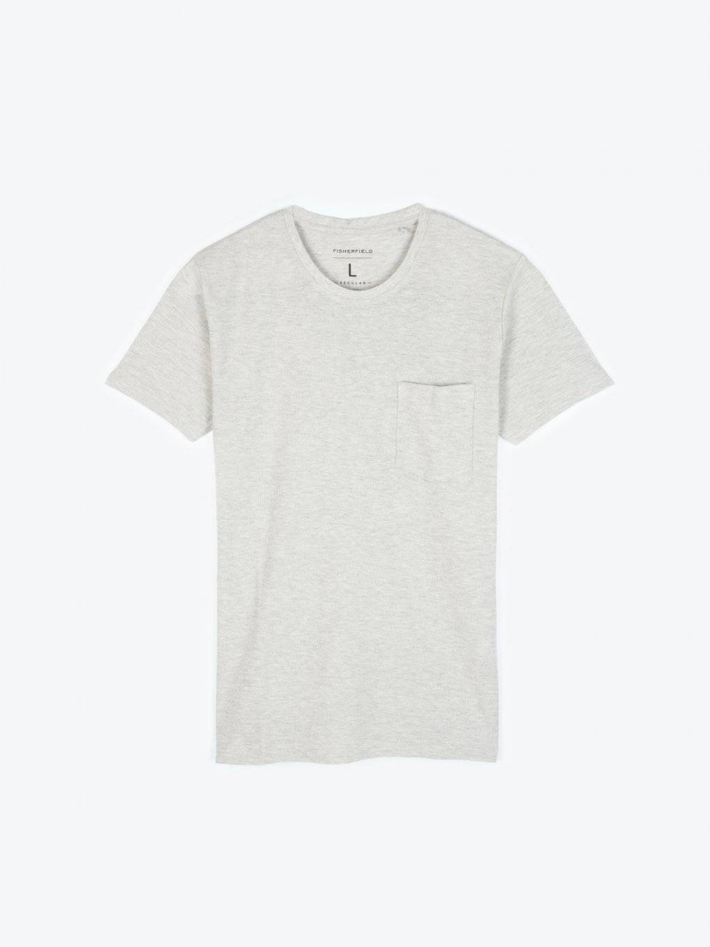 Basic waffle-knit short sleeve t-shirt