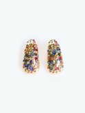 Earrings with colourful stones
