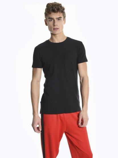 Basic waflowa koszulka z krótkim rękawem