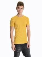 Basic waffle-knit short sleeve t-shirt