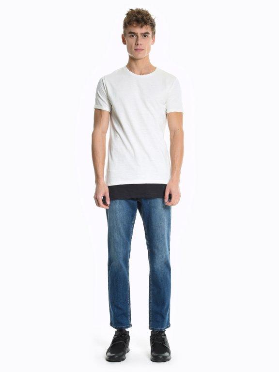 T-shirt with contrast hem