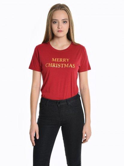 Christmas print t-shirt