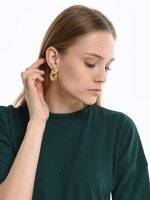 Earrings with faux stones