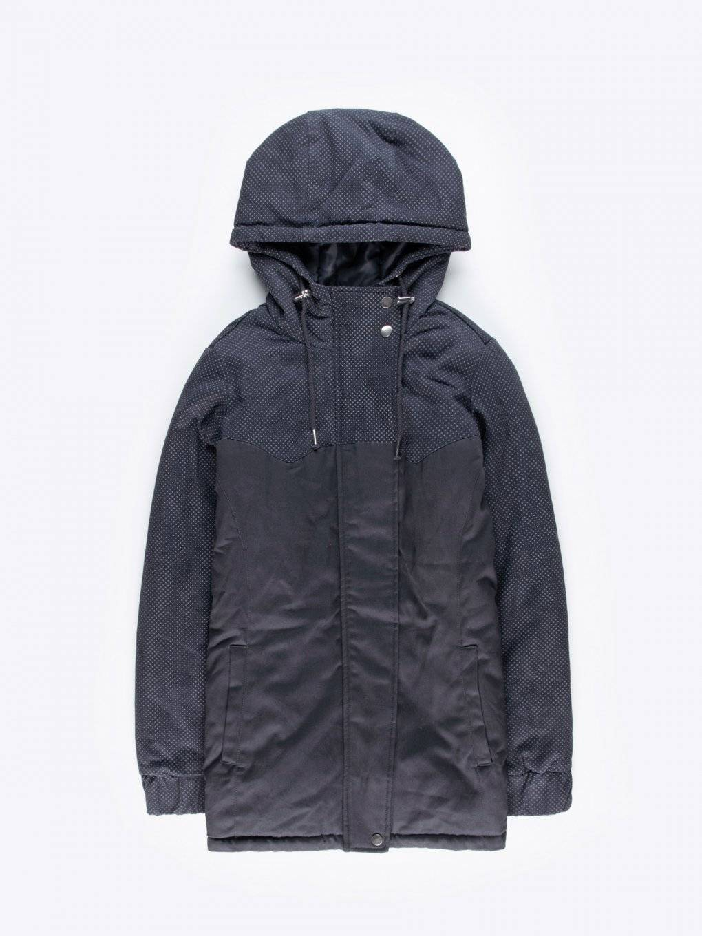 Printed cotton padded parka