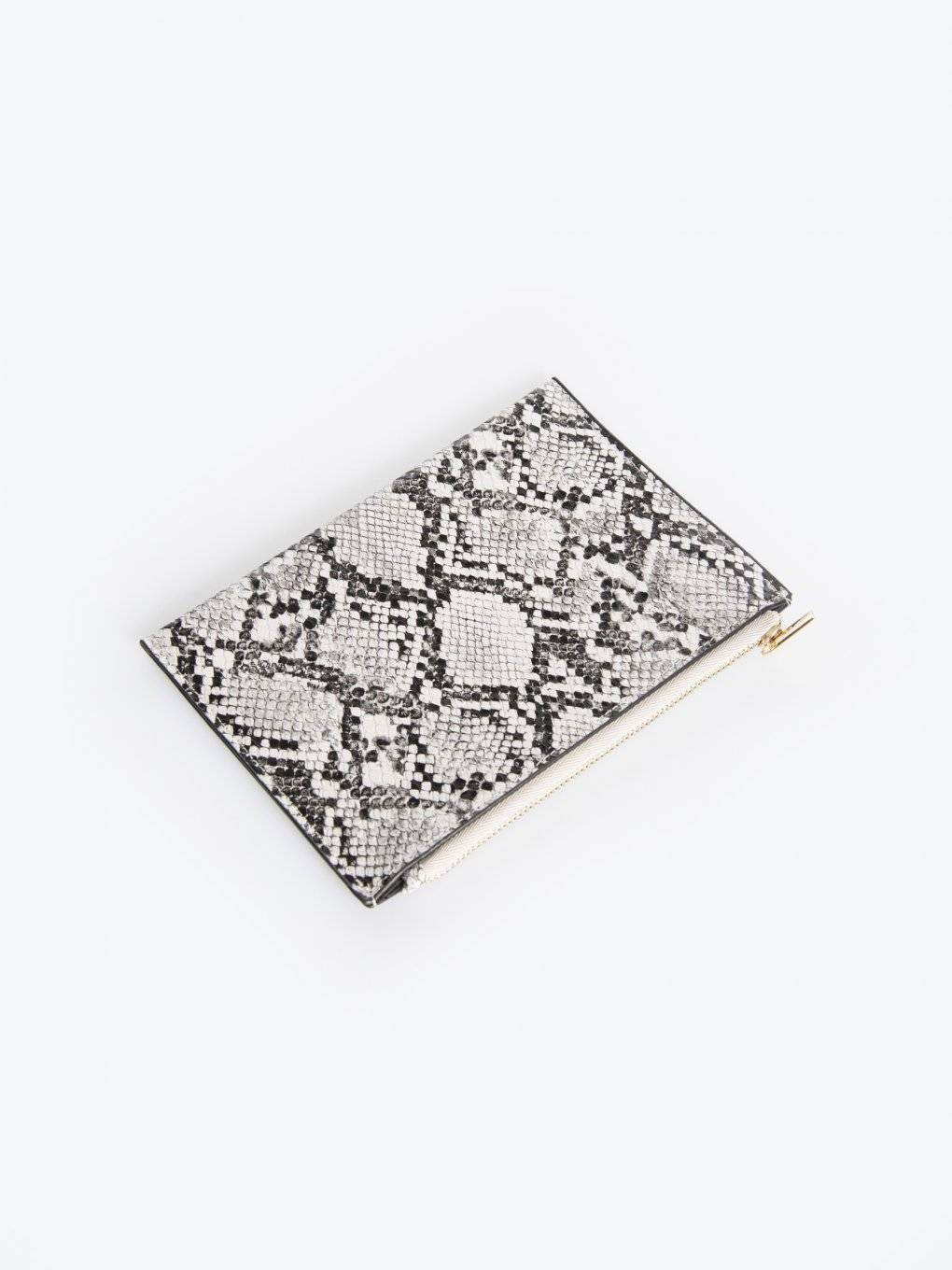 Faux snake skin multipurpose case