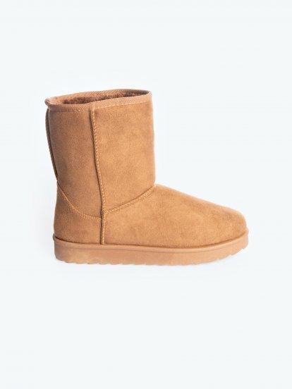 Teplé kotníkové boty